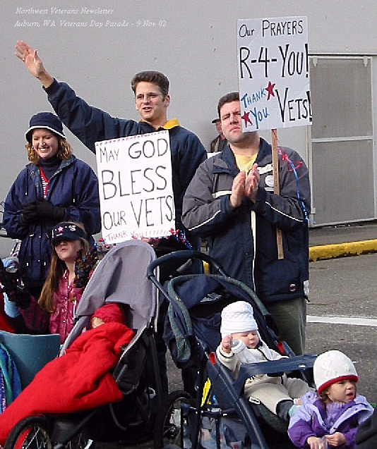 From Auburn Parade to all veterans, 9 Nov 02